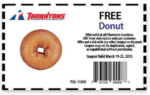 Thorntons Free Donut
