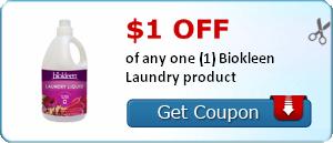 Biokleen Laundry Coupon